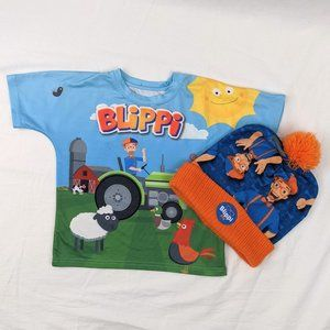 Blippi Bundle 2pcs Farm T-Shirt & Toque